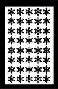 Samolepka pro nail art vločka 4 černá