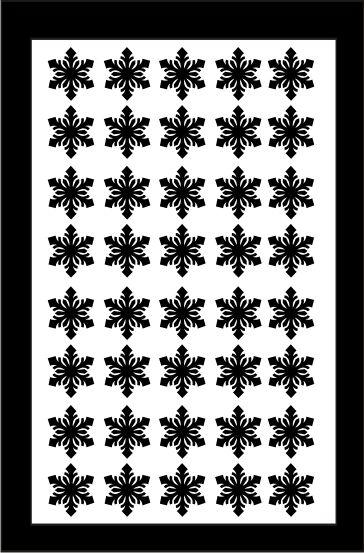 Samolepka pro nail art vločka 4 černá AKmedia