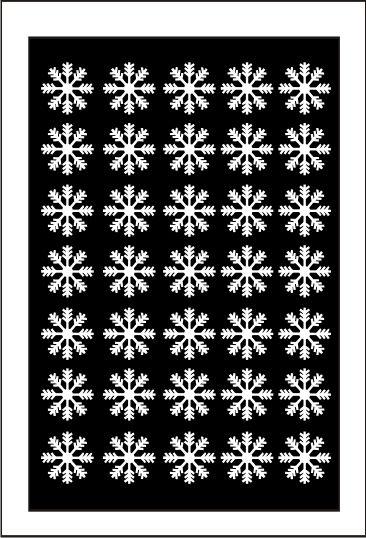 Samolepka pro nail art vločka 5 bílá AKmedia