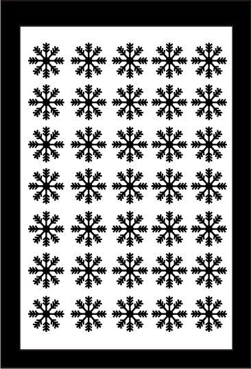 Samolepka pro nail art vločka 5 černá AKmedia
