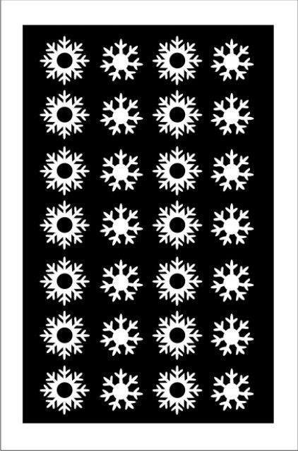 Samolepka pro nail art vločka bílá AKmedia