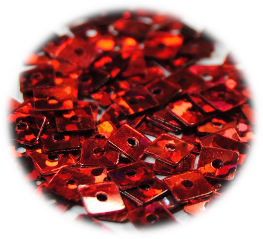 Kostičky s otvorem červená hologram