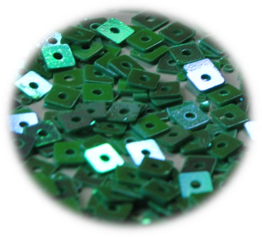 Kostičky s otvorem smaragdová hologram