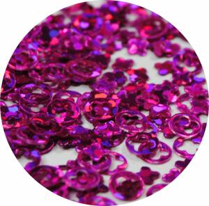 Kroužek s výřezem fialová s hologramem