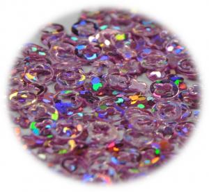Kroužek s výřezem fialová světlá s hologramem