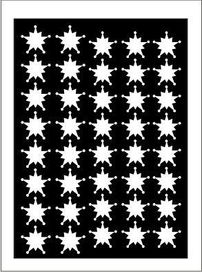 Samolepka pro nail art vločka 10 bílá AKmedia