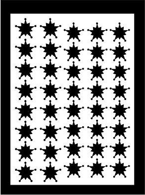 Samolepka pro nail art vločka 10 černá AKmedia