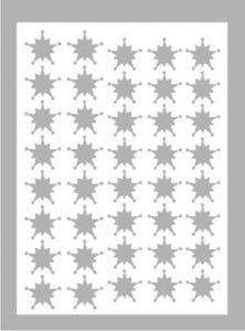 Samolepka pro nail art vločka 10 stříbrná AKmedia