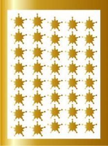 Samolepka pro nail art vločka 10 zlatá AKmedia