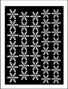 Samolepka pro nail art vločka 11 bílá