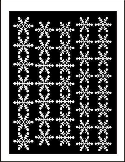 Samolepka pro nail art vločka 11 bílá AKmedia