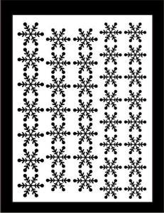 Samolepka pro nail art vločka 11 černá AKmedia