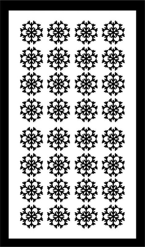 Samolepka pro nail art vločka 12 černá AKmedia