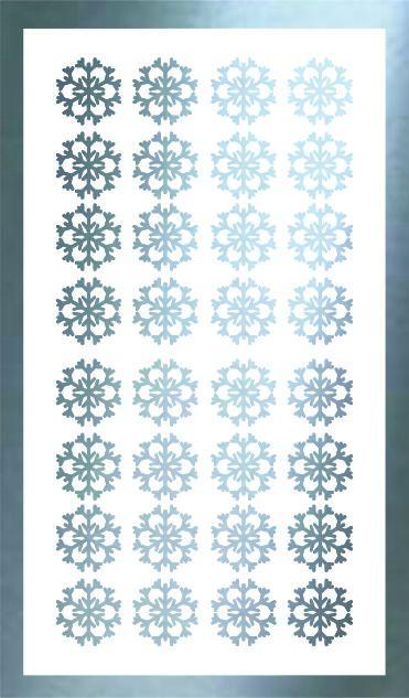 Samolepka pro nail art vločka 12 stříbrná AKmedia