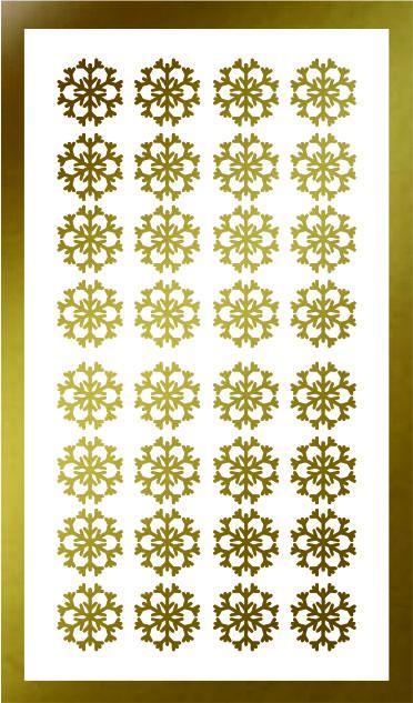 Samolepka pro nail art vločka 12 zlatá AKmedia