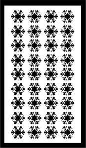 Samolepka pro nail art vločka 13 černá AKmedia