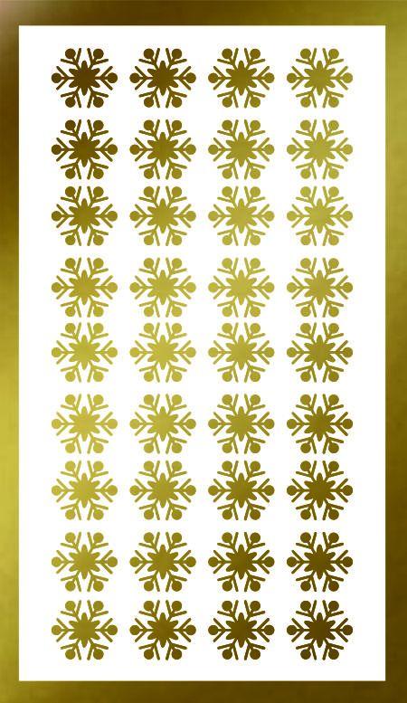 Samolepka pro nail art vločka 13 zlatá AKmedia