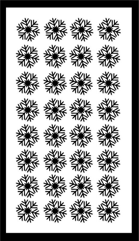 Samolepka pro nail art vločka 14 černá AKmedia