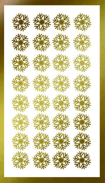 Samolepka pro nail art vločka 14 zlatá AKmedia