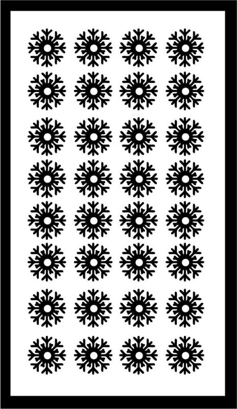 Samolepka pro nail art vločka 15 černá AKmedia