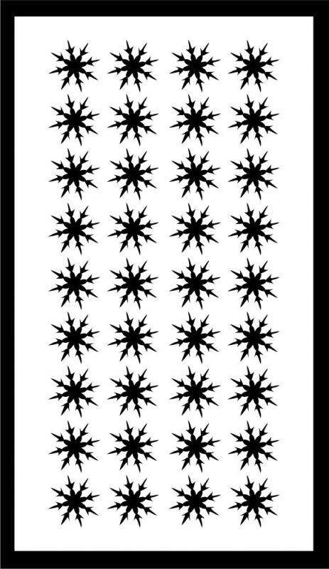 Samolepka pro nail art vločka 16 černá AKmedia