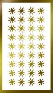 Samolepka pro nail art vločka 16 zlatá AKmedia