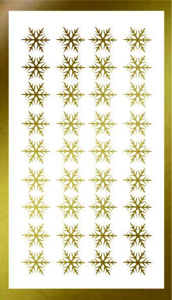 Samolepka pro nail art vločka 17 zlatá AKmedia