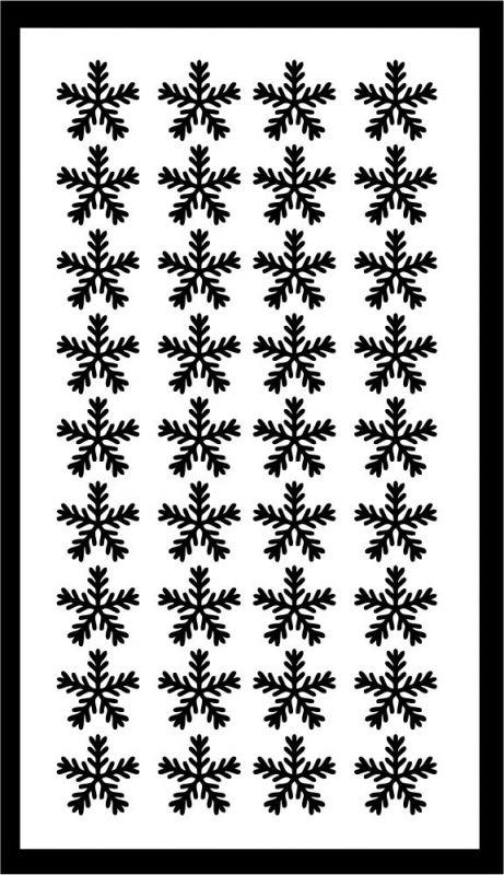 Samolepka pro nail art vločka 18 černá AKmedia