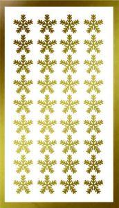 Samolepka pro nail art vločka 18 zlatá AKmedia