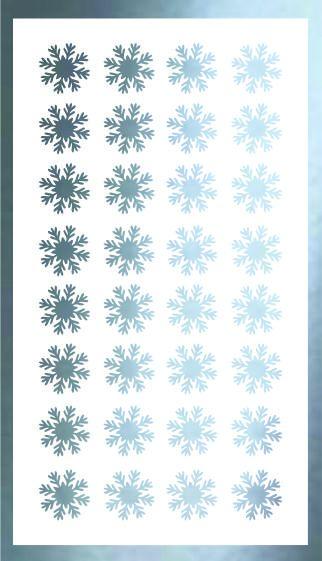 Samolepka pro nail art vločka 19 stříbrná AKmedia