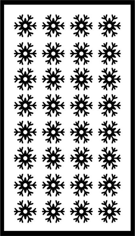 Samolepka pro nail art vločka 20 černá AKmedia