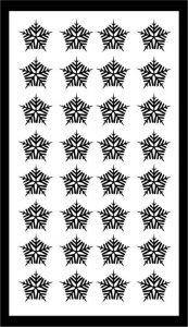 Samolepka pro nail art vločka 21 černá AKmedia