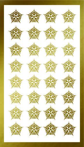 Samolepka pro nail art vločka 21 zlatá AKmedia