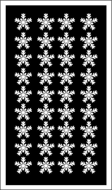 Samolepka pro nail art vločka 22 bílá AKmedia