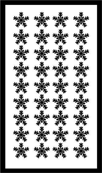 Samolepka pro nail art vločka 22 černá AKmedia