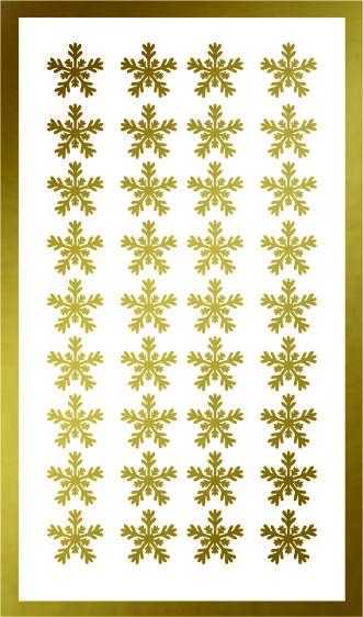 Samolepka pro nail art vločka 22 zlatá AKmedia