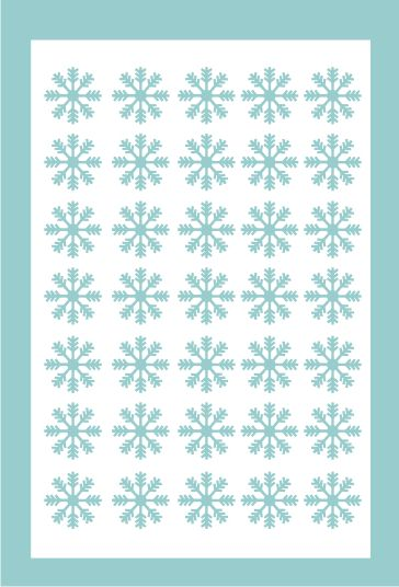 Samolepka pro nail art vločka 5 modrá světlá AKmedia