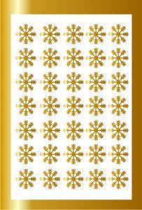 Samolepka pro nail art vločka 5 zlatá AKmedia