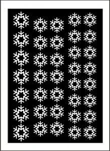 Samolepka pro nail art vločka 6 bílá AKmedia