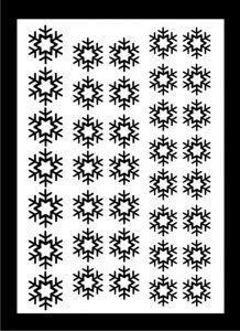Samolepka pro nail art vločka 6 černá