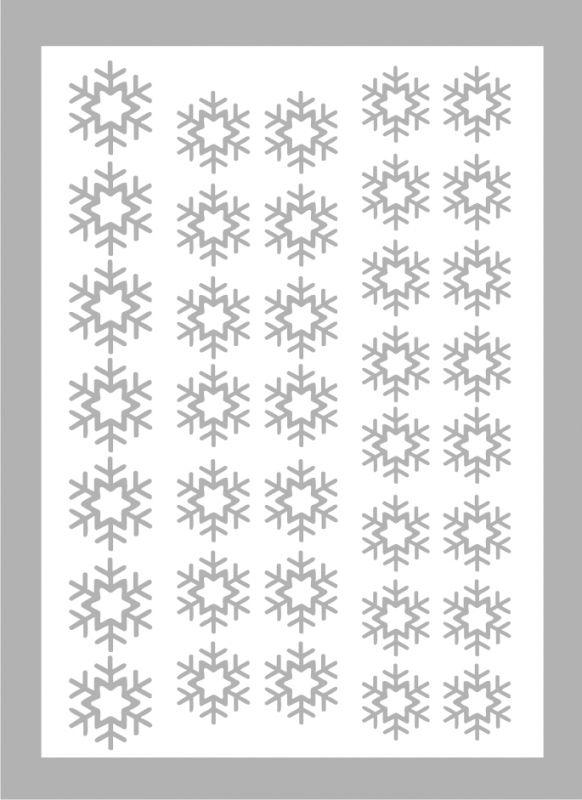 Samolepka pro nail art vločka 6 stříbrná AKmedia
