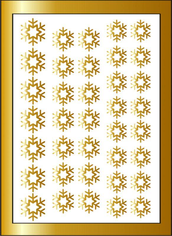 Samolepka pro nail art vločka 6 zlatá AKmedia