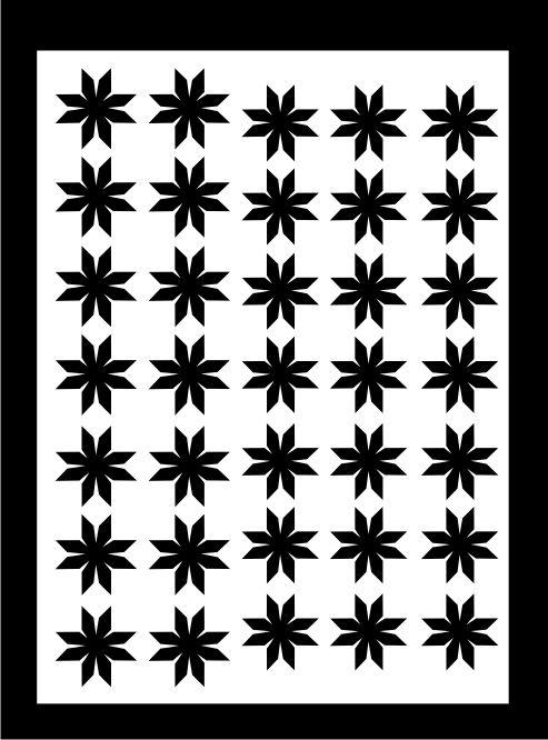 Samolepka pro nail art vločka 7 černá AKmedia