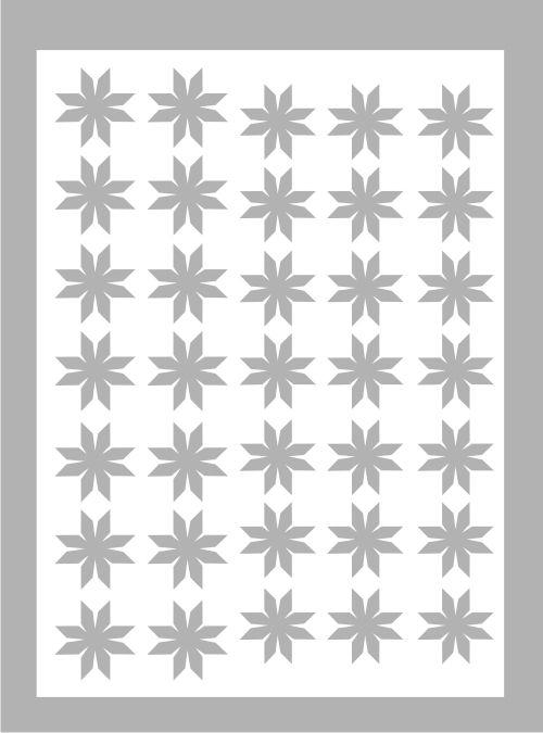Samolepka pro nail art vločka 7 stříbrná AKmedia
