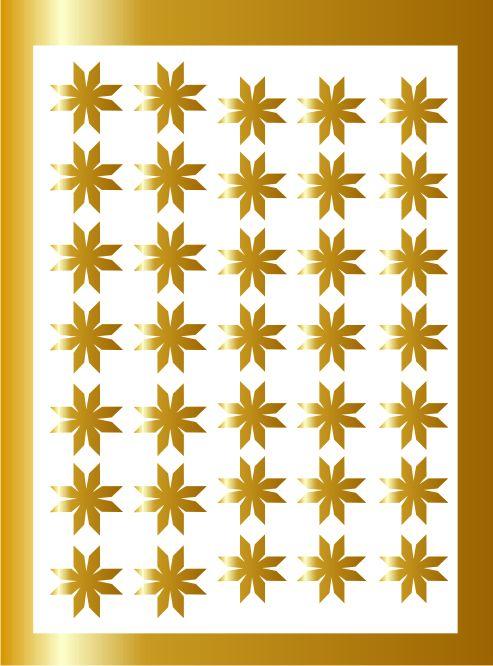 Samolepka pro nail art vločka 7 zlatá AKmedia