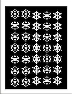 Samolepka pro nail art vločka 8 bílá AKmedia