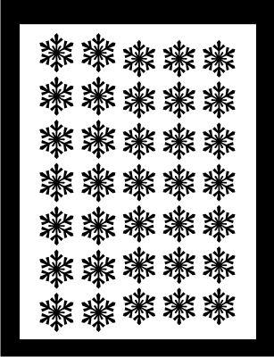 Samolepka pro nail art vločka 8 černá AKmedia