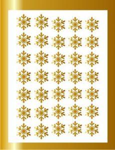 Samolepka pro nail art vločka 8 zlatá AKmedia