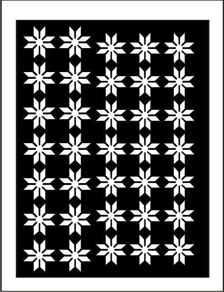 Samolepka pro nail art vločka 9 bílá AKmedia