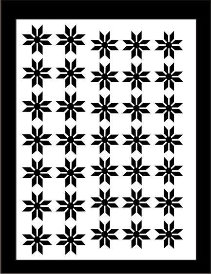 Samolepka pro nail art vločka 9 černá AKmedia